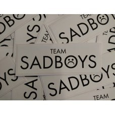 Team Sadboys Sticker, Black on White