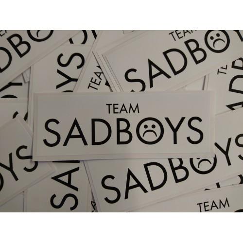 Team Sadboys Sticker, Black on White